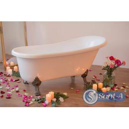 Декоративна ванна Atlantis C-3015 white bronze (ніжки бронза) 170x70x70 см на левових ніжках