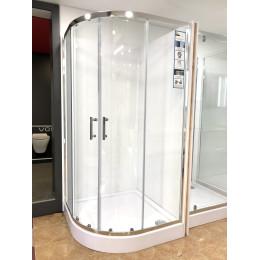 Душевая кабина Dusel A-511b, 80х80х190, двери раздвижные, стекло прозрачное