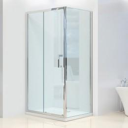 Душевая кабинка Dusel А-515a, 120х80х190, дверь раздвижная, стекло прозрачное