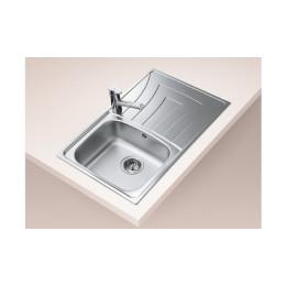 Кухонна мийка Teka з нержавіючої сталі, мікротекстура, врізна, 79х50см UNIVERSO 1B 1D 79 10120045 Тека