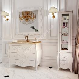 Тумба напольная для ванной комнаты 900x560мм Marsan ARLETTE (Марсан 10-Арлетт), белая