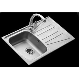 Кухонна мийка Teka з нержавіючої сталі, матова, врізна, 79х50см Basico 79 1B 1D 10124019 Тека
