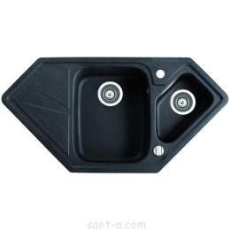 Врізна кухонна мийка Marmorin TORRO trapez кутова (220 613 0xx)