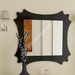 Зеркало Marsan DIANNE 1040х940мм белое/черное/венге (Марсан 1-Диана)