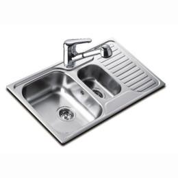Кухонная мойка Teka из нержавеющей стали, полированная, врезная, 80x50см 30000172 PRINCESS 800.500 Тека