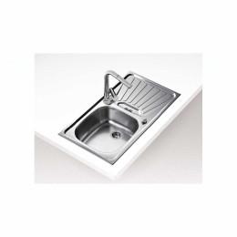 Кухонна мийка Teka з нержавіючої сталі, матова, врізна, 78х43,5см DEVA 10133003 Тека
