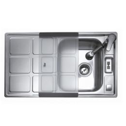 Кухонна мийка Teka з нержавіючої сталі, мікротекстура, врізна, 86х50см CUADRO 45 B 30000750 Тека