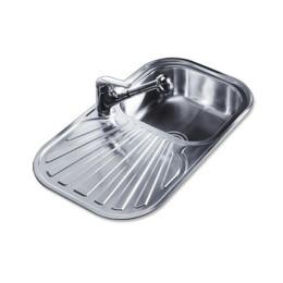 Кухонная мойка Teka из нержавеющей стали, полированная, врезная, 83х48,5см STYLO 1B 1D 10107021 Тека