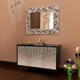 Зеркало для ванной комнаты Marsan PENELOPE 1120x870мм в цвете (Марсан 2-Пенелопа) античное золото/серебро