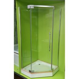 Душевой уголок 100x100 пятиугольный Veronis KN-8-100