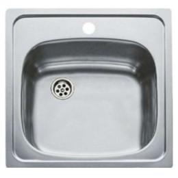 Кухонна мийка Teka з нержавіючої сталі, матова, врізна, 46,5х46,5см UNIVERSAL 465.465 1B 30000048 Тека