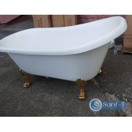 Ретро ванна на львиных лапах Atlantis C-3014 gold 150х70х70см (ноги золото)