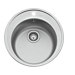 Кухонна мийка Teka з нержавіючої сталі, мікротекстура, врізна, 51х51см Basico 510 10124027 Тека