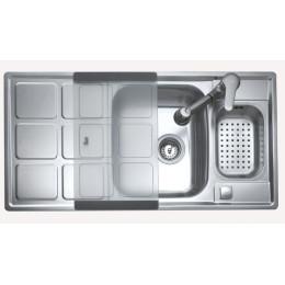 Кухонная мойка Teka из нержавеющей стали, полированная, врезная, 98х50см CUADRO 60 B 88012 Тека