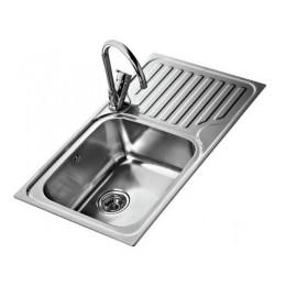 Кухонная мойка Teka из нержавеющей стали, врезная, 86x50см, цвет сталь полированная CLASSIC MAX 1B 1D RHD 11119200 Тека