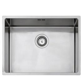 Кухонна мийка Teka з нержавіючої сталі, дзеркальна, монтаж під стільницю, 59х44см 40125510 LINEA R10 550.400 Тека