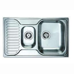 Кухонна мийка Teka з нержавіючої сталі, мікротекстура, врізна, 80х50см 30000171 PRINCESS 800.500 Тека