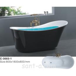 Ванна черная отдельно стоящая Atlantis 180х80 (C-3003-1)
