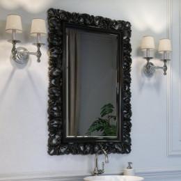 Зеркало для ванной комнаты Marsan VINCENT в цвете 100x75см (Марсан 1-Винсент) белое/черное