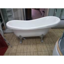 Ретро ванна на левових лапах Atlantis C-3014 silver 150х70х70см (ноги срібло)