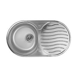 Кухонна мийка Teka з нержавіючої сталі, матова, врізна, 84х44см DR 78 1B 1D 10130001 Тека