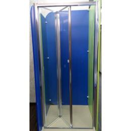 Душевая дверь Atlantis ZDM-90-2 профиль хром/стекло прозрачное, левостороняя 90х190см