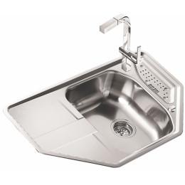 Кухонная мойка Teka из нержавеющей стали, полированная, врезная, 86х50см STAGE 45 B 11131022 Тека