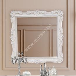 Зеркало Marsan FELICIЕ 970x970 белое + золото/серебро с патиной (Марсан 2-Феличи)