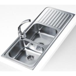 Кухонна мийка Teka з нержавіючої сталі, мікротекстура, врізна, 116х50см CLASSIC 2B 1D 10119051 Тека
