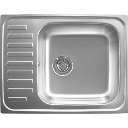 Кухонна мийка Teka з нержавіючої сталі, мікротекстура, врізна, 65х50см Classic 1B 30000053 Тека