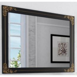 Зеркало античное для ванной комнаты Marsan JACQUELINE 1100x900 белое/черное + золото/серебро (Марсан 2-Жаклин)