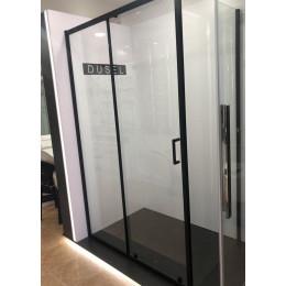 Душевая кабина Dusel EF185B/EF181 Black Matt, 120x80x190, дверь раздвижная, профиль черный, стекло прозрачное