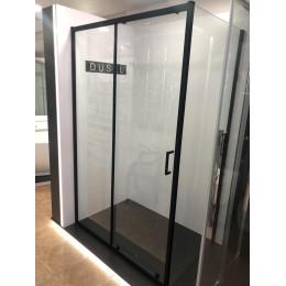 Душевая кабина Dusel EF185B/EF181 Black Matt, 120x90x190, дверь раздвижная, профиль черный, стекло прозрачное