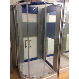Душова кабіна Dusel A-511f, 100х100х190, двері розсувні, скло прозоре