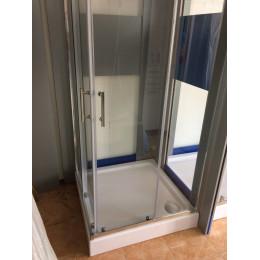 Душевая кабина Dusel A-513f 900x900x1900, двери раздвижные, стекло прозрачное