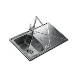 Кухонна мийка Teka з нержавіючої сталі, мікротекстура, врізна, 86х50см EXPRESSION 1B 1D 86 12126012 Тека