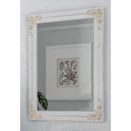 Зеркало античное для ванной комнаты Marsan JACQUELINE 700x920 белое/черное + золото/серебро (Марсан 1-Жаклин)
