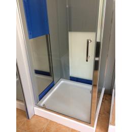 Душевая кабина Dusel A-516c, 100х100х190, дверь распашная, стекло прозрачное