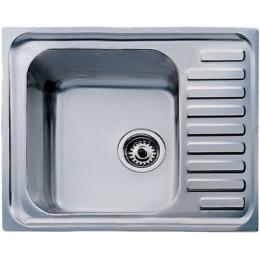 Кухонная мойка Teka из нержавеющей стали, микротекстура, врезная, 58x50см UNIVERSAL 580.500 1B 1D 30000061 Тека
