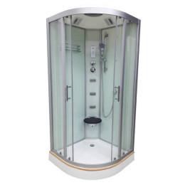 Душевой бокс Veronis BN-5-100 white (передние стекла матовые) 100х100х220см