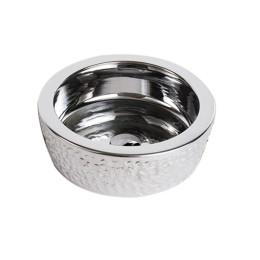 Умывальник чаша на столешницу серебро Newarc 42 (5065CR)