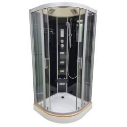 Душевой бокс Veronis BN-5-100 черный (передние стекла прозрачные) 100х100х220см