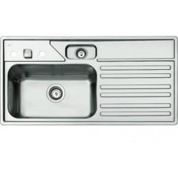 Кухонная мойка Teka выполнена из полированной нержавеющей стали, врезная 100х50см PENTO BASIC L 88280 Тека