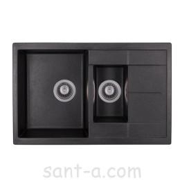 Кухонная мойка GRANADO LEON black shine (1001)