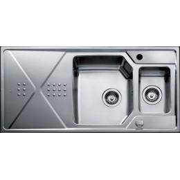 Кухонная мойка Teka из нержавеющей стали, полированная, врезная, 100х50см EXPRESSION 1 1/2 B 1D 12126011 Тека