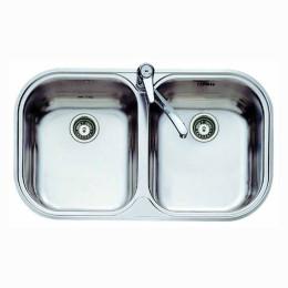 Двойная кухонная мойка Teka из нержавеющей стали, полированная, врезная, 82,8х48,5см STYLO 2B 11107025 Тека