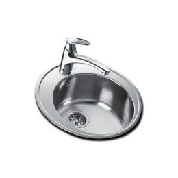 Круглая кухонная мойка Teka из нержавеющей стали, микротекстура, врезная, диам. 510 мм CENTROVAL 45 10111024 Тека
