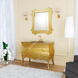 Тумба напольная для ванной комнаты без раковины Marsan DIANNE 1600x560 золото/серебро** (Марсан 7-Диана)