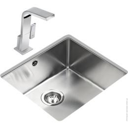 Кухонная мойка Teka из нержавеющей стали, полированная, монтаж под столешницу, 49х44см BE LINEA 45.40 R15 10125133 Тека