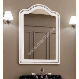 Зеркало в ваную Marsan MELISSA 700x1000мм, (Марсан 1-Мелисса) белое/слоновая кость+ золото/серебро
